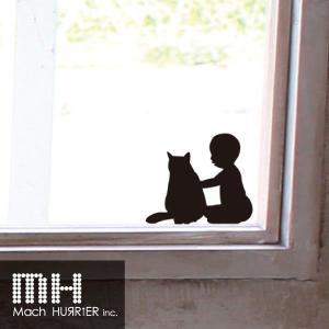 ウォールステッカー 【 スイッチステッカー / 赤ちゃん&猫01 柄】|machhurrier