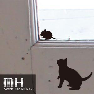 ウォールステッカー 【 スイッチステッカー / 猫01 柄】|machhurrier