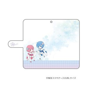 Re:ゼロから始める異世界生活  手帳型スマホケース ラム&レム/幼少期 汎用Lサイズ(予約)[カーテン魂]|machichara