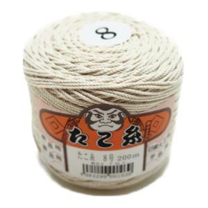 たこ糸 8号(約1.2mm)約200m玉巻  綿糸/ヨリ紐/タグ/料理用/焼き豚/工作/マクラメ/DIY|machida-ito