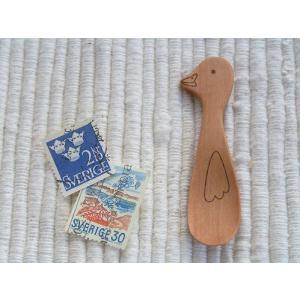 動物たちのスプーンシリーズ あひるのスパイススプーン 材質:サオ|machimishi