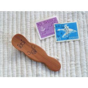 動物たちのスプーンシリーズ ラッコのスパイススプーン 材質:サオ|machimishi