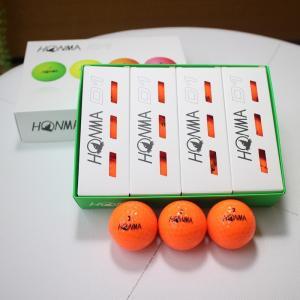 本間ゴルフ D1 ボール HONMA GOLF BALL ゴルフボール オレンジ 1ダース ホンマ 安い 19ss