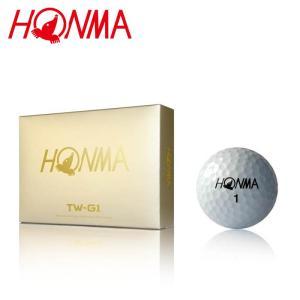 本間ゴルフ ホンマ ツアーワールド TW-G1 ゴルフボール 1ダース(12個入り) ディスタンス系  公認球 ホワイト HONMA TOUR WORLD BALL 1Dozen  19ss