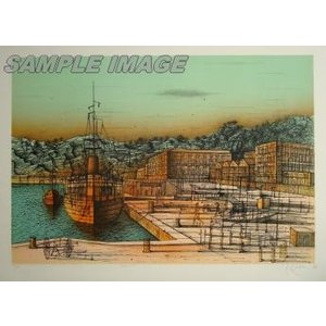 ジャン・カルズー「ニースへの寄港」(版画)【額縁無し】[A190012]Jean Carzou|machinoiriguchi2