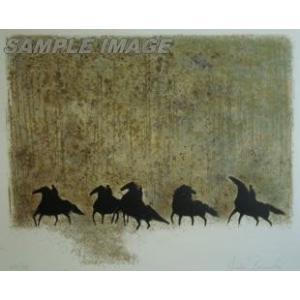アンドレ・ブラジリエ「冬の馬たち」(版画)【額縁付き】[A190015]Andre Brasilier|machinoiriguchi2
