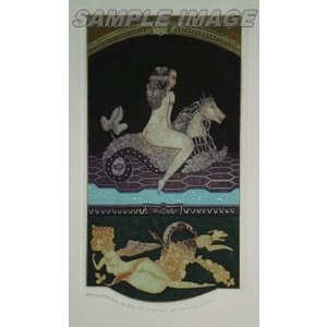 山下清澄「壁画風女の図像 水辺のサイレーン」(版画)【額縁無し】[A200007]Kiyozumi Yamashita|machinoiriguchi2