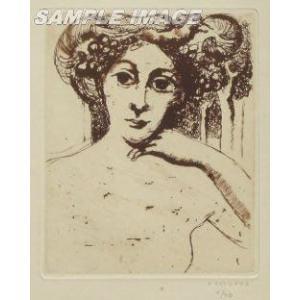 ポール・デルヴォー「肖像」(版画)【額縁無し】[A030002]Paul Delvaux machinoiriguchi2
