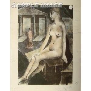 ポール・デルヴォー「偶像」(版画)【額縁付き】[A150003]Paul Delvaux|machinoiriguchi2