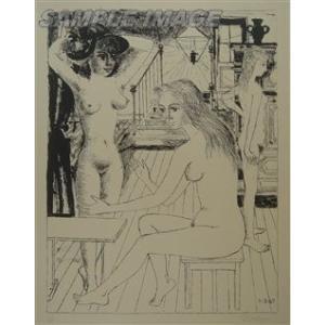 ポール・デルヴォー「若い娘たち」(版画)【額縁無し】[A980001]Paul Delvaux machinoiriguchi2