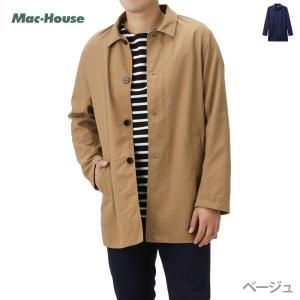 ステンカラーコート ロングコート スプリングコート メンズ コート ジャケット 撥水 ライトアウター...