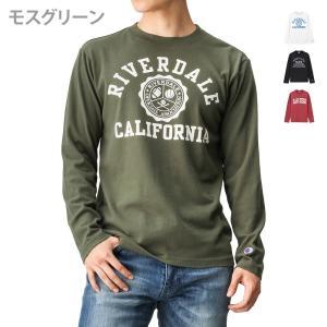 【5のつく日】10%OFFクーポン配布中! チャンピオンからアメカジテイストのプリントTシャツです。...