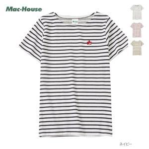 ロゴス LOGOS  半袖Tシャツ ボーダーTシャツ レディース トップス ネコポス対応|Mac-House(マックハウス)