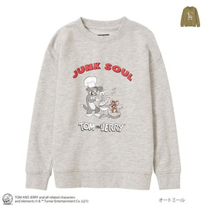 Tom and Jerry トムとジェリー トレーナー スウェット キッズ トップス