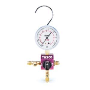 イチネンタスコ TASCO TA123C-1 ボールバルブ式シングルゲージマニホールドキット