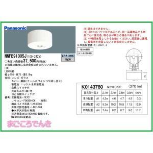 パナソニック NNFB91005J LED非常灯 専用型 直付型 30分間タイプ リモコン自己点検機能付|macocoro
