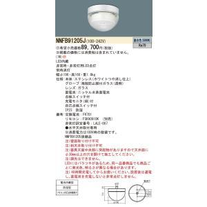代引き決済不可 パナソニック NNFB91205J 天井直付型 LED 一般型 30分間 LED低天井用 〜3m 防湿型 ステンレス製 クリーンフーズパネル付型|macocoro
