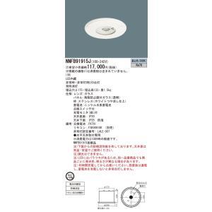 代引き決済不可 パナソニック NNFB91915J 天井埋込型 LED 昼白色 一般型 30分間 LED低天井用 〜3m 防噴流型 埋込穴φ175 ガラスパネル付型 クリーンフーズ|macocoro