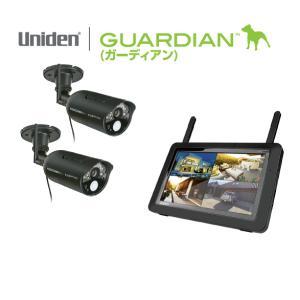 在庫あり ユニデン UDR7011 防犯カメラ 屋外 ワイヤレス カメラ モニター セット カメラ屋外屋内設置可能2台 ガーディアン|macocoro