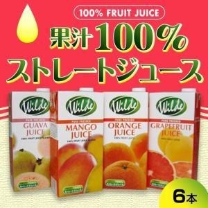ジュース 100% ストレート(果汁100%) 1000ml グアバ、マンゴー、オレンジ、ルビーグレープフルーツ 6本セット|madelief