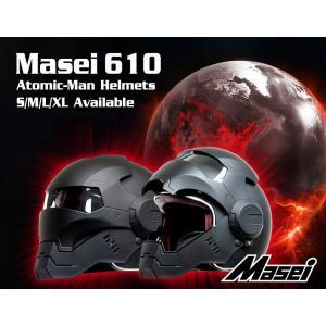 ジェットヘルメット ヘルメット ロボヘル610 Automic Man ブラック Masei(マセイ)|madmax