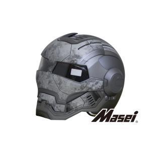 ジェットヘルメット ヘルメット ロボヘル610 Automic Man グレー Masei(マセイ)|madmax