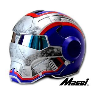 ジェットヘルメット ヘルメット ロボヘル610 Automic Man ブルー/グレー Masei(マセイ)|madmax