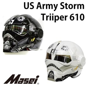 ジェットヘルメット ヘルメット US ArmyStorm Trooper610 ブラック Masei(マセイ)|madmax