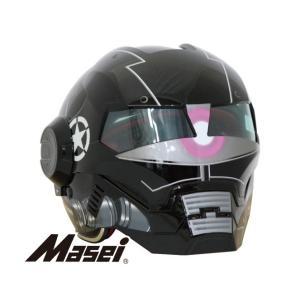 Masei(マセイ) ジェットヘルメット ロボヘル610Z  艶ブラック|madmax