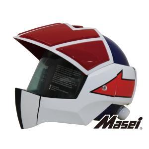 Masei フルフェイスへルメット ロボヘル911 レッド/ブルー HELMET|madmax