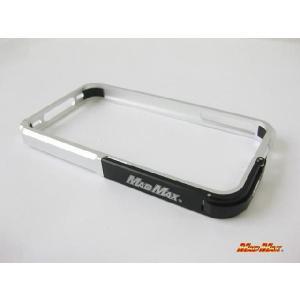 iPhone4/4S MADMAXアルミバンパー シルバー/ブラック|madmax