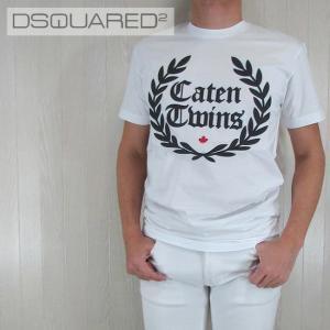 ディースクエアード DSQUARED2 メンズ Tシャツ 半袖 丸首 カットソー S71GD0536100/ホワイト サイズ:M/L/XL/XXL madoricci
