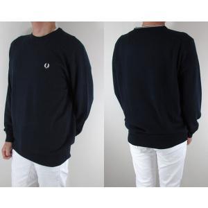 フレッドペリー FRED PERRY メンズ ニット セーター 長袖 トップス K4501-27 / 395 / ネイビー/ホワイト サイズ:L/XL/XXL|madoricci|02