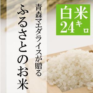 米 24kg 白米 8kg×3袋小分け 令和2年 青森県産 ふるさとのお米|maeda-rice