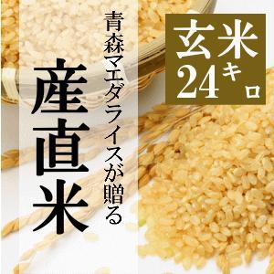 米 24kg 玄米 8kg×3袋小分け 令和2年 青森県産 産直米|maeda-rice