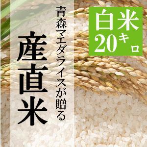 米 20kg 白米 10kg×2袋小分け 令和元年 青森県産 産直米|maeda-rice