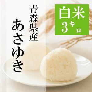 米 3kg 白米 令和元年 青森県産 あさゆき 送料無料 日本郵政レターパックプラス発送 対面配達 代引き不可 日時指定不可|maeda-rice