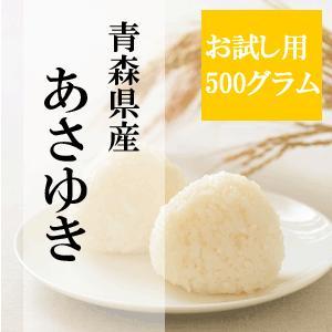 お試し用 精白米 500グラム 青森県産あさゆき 商品代引き不可、メール便配送品|maeda-rice