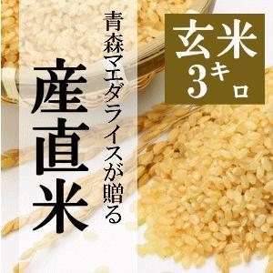 米 3kg 玄米 令和2年産 青森県産 産直米 送料無料 日本郵政レターパックプラス発送 対面配達 代引き不可 日時指定不可|maeda-rice