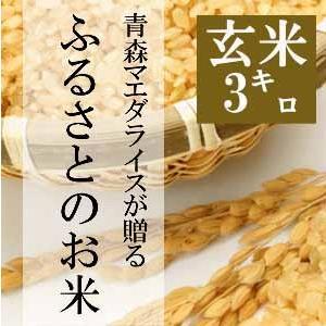 米 3kg 玄米 令和2年産 青森県産 ふるさとのお米 送料無料 日本郵政レターパックプラス発送 対面配達 代引き不可 日時指定不可|maeda-rice