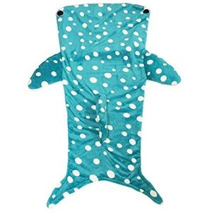 履くブランケット毛布(ジンベイザメ)約85×140cm 履けるブランケット毛布 寝袋