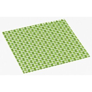 おしゃれ コースター (12枚セット) | グリーン | 簡単に汚れが拭ける コースター | 水洗いもできて清潔 | 撥水 | インテリア の 敷物 にも|maedaya