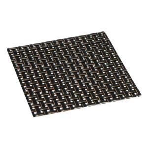 おしゃれ コースター (12枚セット) ブラックステッチ 簡単に汚れが拭ける コースター 水洗いもできて清潔 撥水 インテリア の 敷物 にも|maedaya