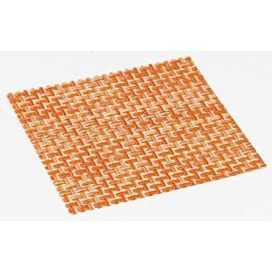 おしゃれ コースター (12枚セット) オレンジ 簡単に汚れが拭ける コースター 水洗いもできて清潔 撥水 インテリア の 敷物 にも|maedaya