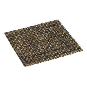 おしゃれ コースター (12枚セット) ブラウンメッシュ 簡単に汚れが拭ける コースター 水洗いもできて清潔 撥水 インテリア の 敷物 にも maedaya