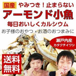国産 やみつき アーモンド 小魚 カタクチイワシ 6個 maedaya