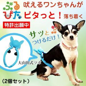 犬 のしつけに ぶるぴた 2個セット 吠える犬、走りまわる犬がピタリと落ち着く トリマーの必需品 (使い方・大山田式 犬の しつけ DVD付)日本製|maedaya