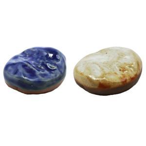 箸置き 陶器 2種セット ( 石焼き 白 ・ 石焼き 青 ) おしゃれ で かわいい インテリア はし置き 業務用 可 日本製 国産|maedaya