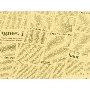 外国の 英字 包装紙 新聞紙 風プリント 茶色  10枚  おしゃれ で かわいい 包装紙 お花 や...