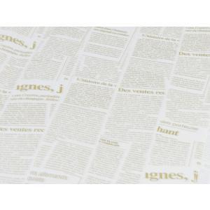 外国の 英字 包装紙 新聞紙 風プリント 白色 ( 10枚 ) おしゃれ で かわいい 包装紙 お花 や プレゼント ・ギフト ( GIFT )  商品の ラッピング に! maedaya